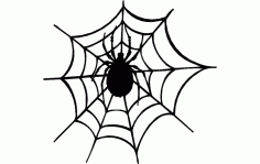 Spider And The Web Free DXF File