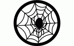 Spider Web Circle Free DXF File