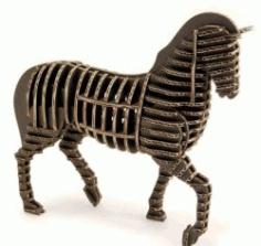 3d Puzzle Horse Model For Laser Cut Free CDR Vectors Art