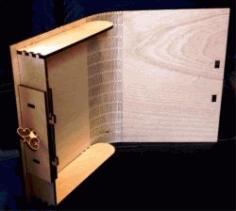 Book Shaped Souvenir Box For Laser Cut Free CDR Vectors Art