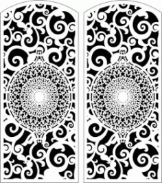 Design Door 110 For Laser Cut Cnc Free CDR Vectors Art