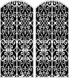 Design Pattern Door 156 For Laser Cut Cnc Free CDR Vectors Art