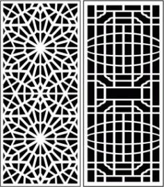 Design Pattern Panel Screen 060 For Laser Cut Cnc Free CDR Vectors Art