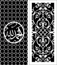 Design Pattern Panel Screen 107 For Laser Cut Cnc Free CDR Vectors Art