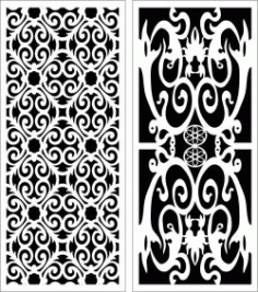 Design Pattern Panel Screen 115 For Laser Cut Cnc Free CDR Vectors Art