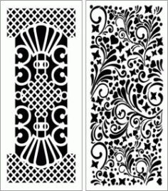 Design Pattern Panel Screen 116 For Laser Cut Cnc Free CDR Vectors Art