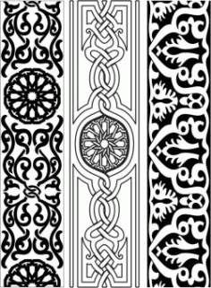 Design Pattern Woodcarving 151 For Laser Cut Cnc Free CDR Vectors Art