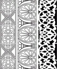 Design Pattern Woodcarving 444 For Laser Cut Cnc Free CDR Vectors Art