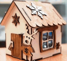 Piggy House For Laser Cut Free CDR Vectors Art