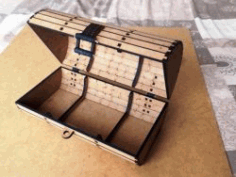 Pirate Treasure Chest For Laser Cut Cnc Free CDR Vectors Art