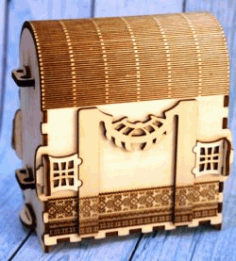 Plywood Travel Bag For Laser Cut Cnc Free CDR Vectors Art