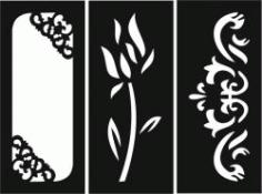 Rectangular Decorative Motifs For Laser Cut Cnc Free CDR Vectors Art