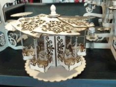 Rotating Display Shelves For Laser Cut Cnc Free CDR Vectors Art