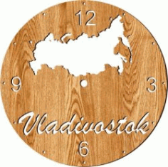Russian Clock For Laser Cut Plasma Free CDR Vectors Art