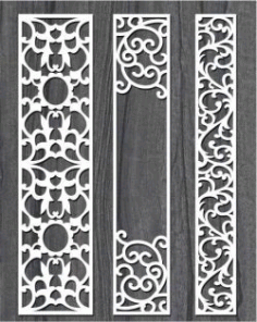 Screen Style Vertical Column For Laser Cut Cnc Free CDR Vectors Art