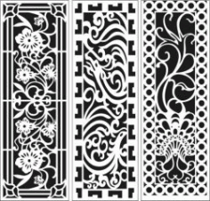 Screens And Partitions For Home And Office For Laser Cut Cnc Free CDR Vectors Art