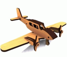 Airplane Model For Laser Cut Cnc Free DXF File