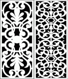 Design Pattern Panel Screen 205 For Laser Cut Cnc Free DXF File