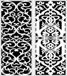 Design Pattern Panel Screen 245 For Laser Cut Cnc Free DXF File