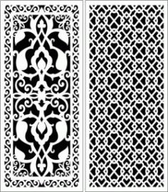 Design Pattern Panel Screen 246 For Laser Cut Cnc Free DXF File