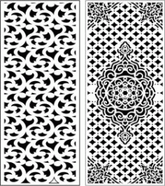 Design Pattern Panel Screen 249 For Laser Cut Cnc Free DXF File