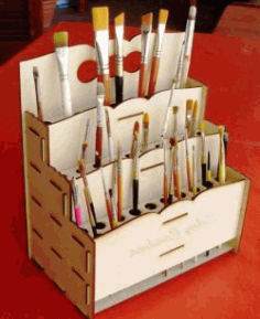 Make Up Organizer For Laser Cut Free DXF File