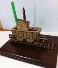Pen Holder Wagon For Laser Cut Free DXF File