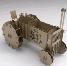 Tractor Model For Laser Cut Plasma Free DXF File