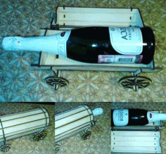 Wine Cart For Laser Cut Free DXF File