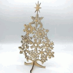 Wonderful Tree For Laser Cut Free DXF File