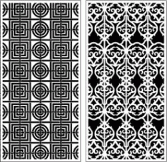 Seamless Texture Baffles For Laser Cut Cnc Free CDR Vectors Art