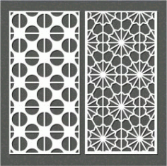 Semicircular Baffle Pattern For Laser Cut Cnc Free CDR Vectors Art