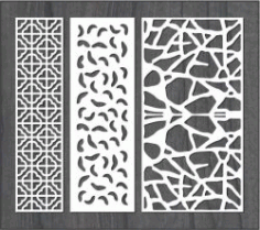 Simple Stone Wall Partition Design For Laser Cut Cnc Free CDR Vectors Art