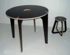 Simple Wooden Tables And Chairs For Laser Cut Cnc Free CDR Vectors Art