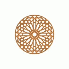 Circular Pattern Cnc File Design Free DXF File