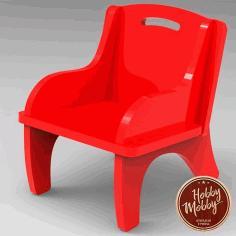 Cnc Laser Cut Baby Chair Free DXF File