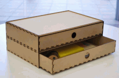 Cnc Laser Cut Box Free DXF File