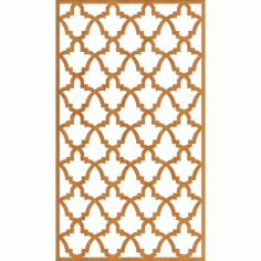 Cnc Laser Cut Floral Wall Partition Design Free DXF File