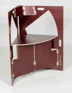 Cnc Laser Cut Plywood Folding Chair Table Free DXF File