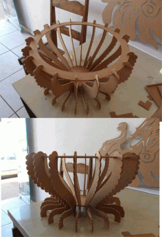 Cnc Laser Cut Wood Project Fruit Storage Bowl Free DXF File