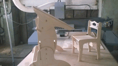 Cnc Laser Cut Wooden Desk And Chair Free DXF File