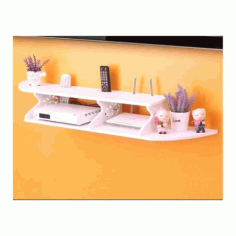 Cnc Laser Cut Wooden Wall Tv Shelf Free DXF File