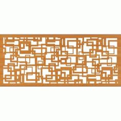 Geometric Pattern Wall Design Free DXF File