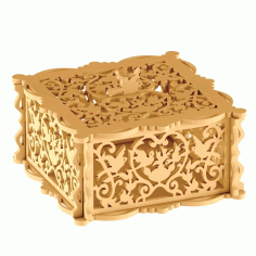 Jewelry Box Laser Cut Projects Made Of Wood Free DXF File