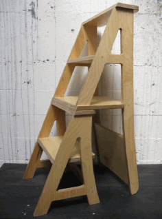Step Ladder Laser Wooden Chair Plans Free DXF File