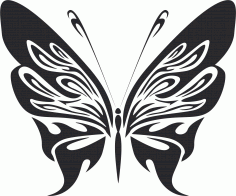 Tattoo Tribal Butterfly 255 Free DXF File