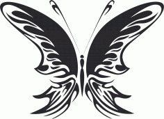 Tattoo Tribal Butterfly Metal Art 99 Free DXF File