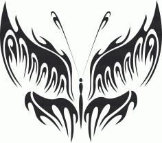 Tattoo Tribal Butterfly Metal Plasma Art Free DXF File