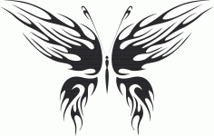 Tattoo Tribal Butterfly Wildlife Vector Free DXF File