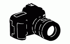 Camera Silhouette Free DXF File
